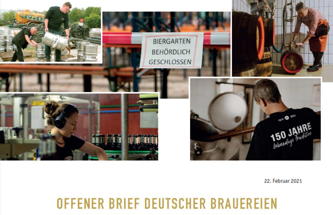 Offener Brief der deutschen Brauereien